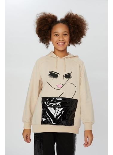 Little Star Little Star Kız Çocuk Kapşonlu Sweatshirt Taş